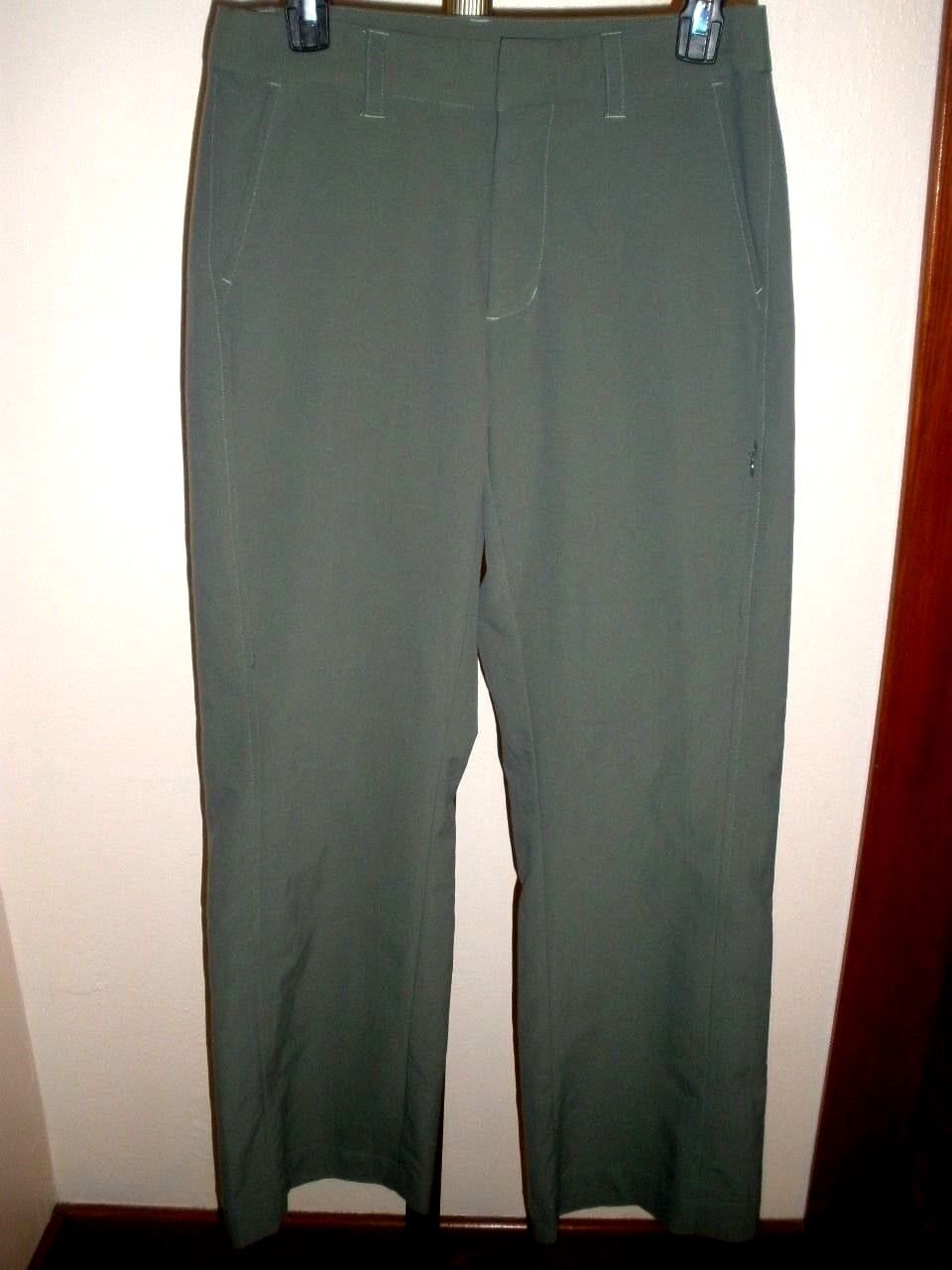 WOMEN'S PATAGONIA POLY NYLON CASUAL TRAVEL PANTS SZ 6 Dark Olive, Mint Cond