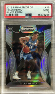 2019-20-Panini-Tyler-Herro-Silver-Prizm-Rookie-Rc-PSA-9-Mint-Heat-Hot