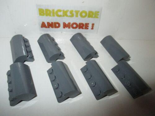 Lego Brique Brick 1x4x1 x1//3 Curved Top 6081 Dark Gray Choose Quantity