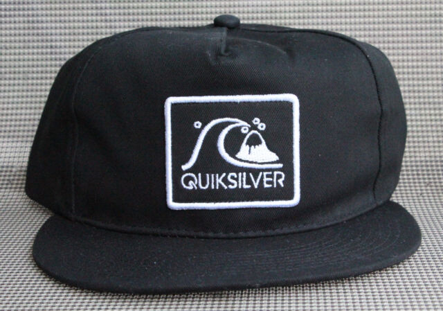 hot sale online 28934 69930 new zealand quiksilver gramatic snapback hat a8594 4541a  where to buy  quicksilver graf logo snapback hat cap mens black adjustable brand new with  tags