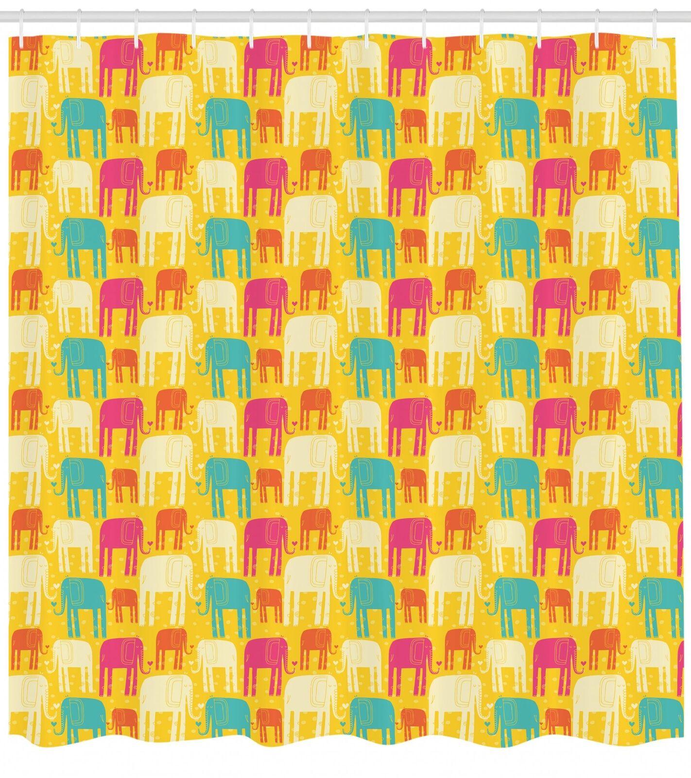 Safari Pattern Shower Curtain Fabric Decor Set with Hooks 4 Größes