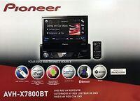 Pioneer Avh-x7800bt Single Din Bluetooth Dvd/cd/am/fm Car Stereo 7 Flip-out