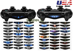 60-PCS-Controller-Led-Light-Bar-Decal-Stickers-Skin-for-Playstation-PS4-Pro-Slim