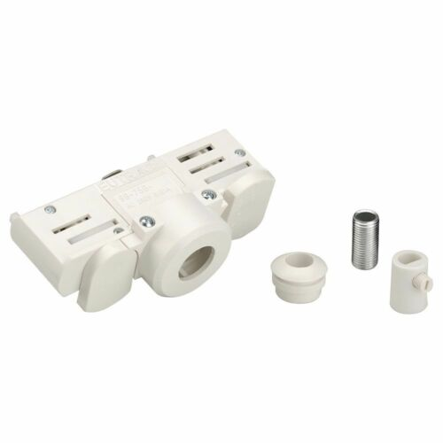 EUTRAC 3-Phasen Stromschienenadapter Montagenippel weiß inkl