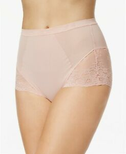 12f08414e SPANX SPOTLIGHT ON LACE HIGH-WAISTED BRIEF IN VINTAGE ROSE SIZE M ...
