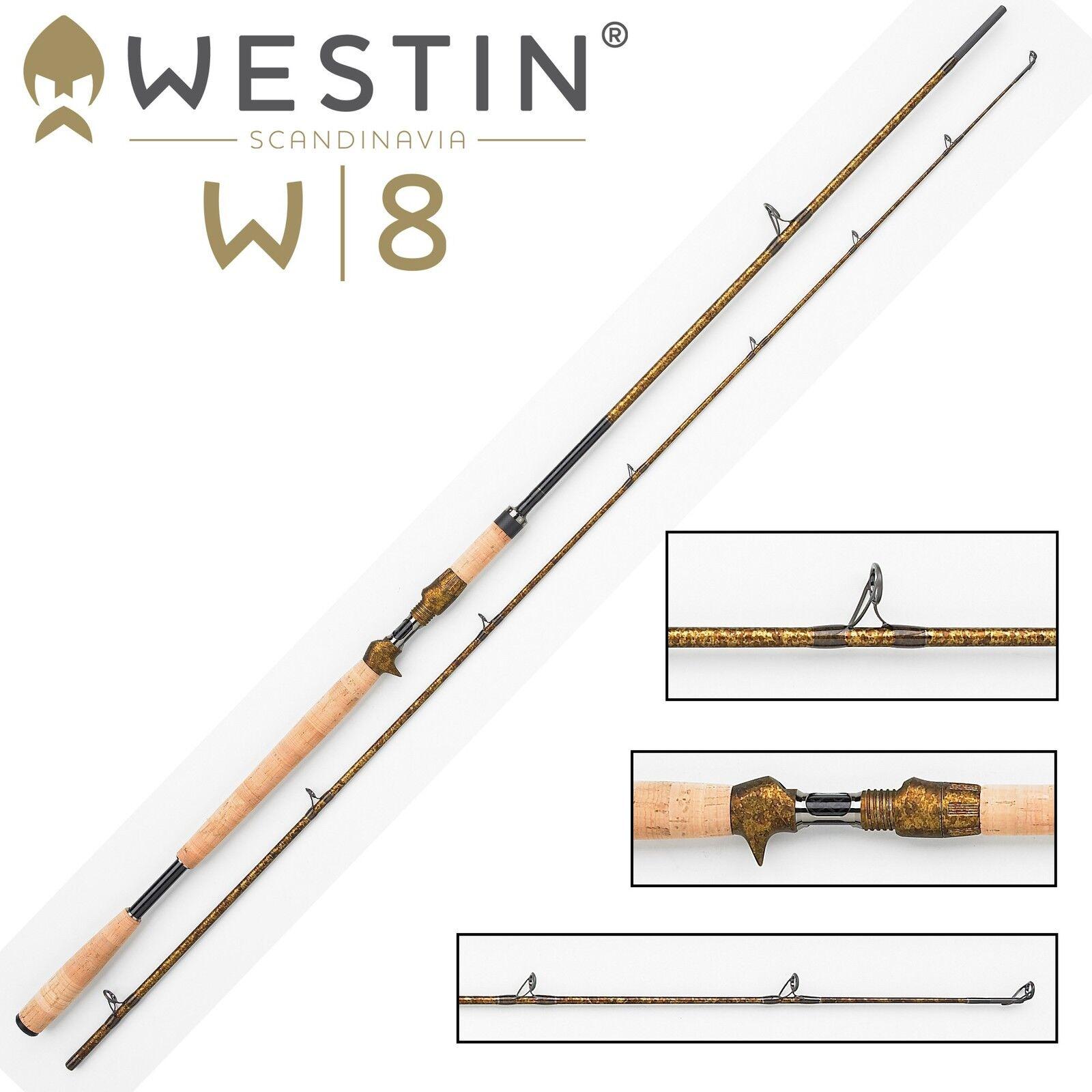 Westin W8 Powercast-T 255cm XXH 40-130g Spinnrute für Multirolle,  Angelrute