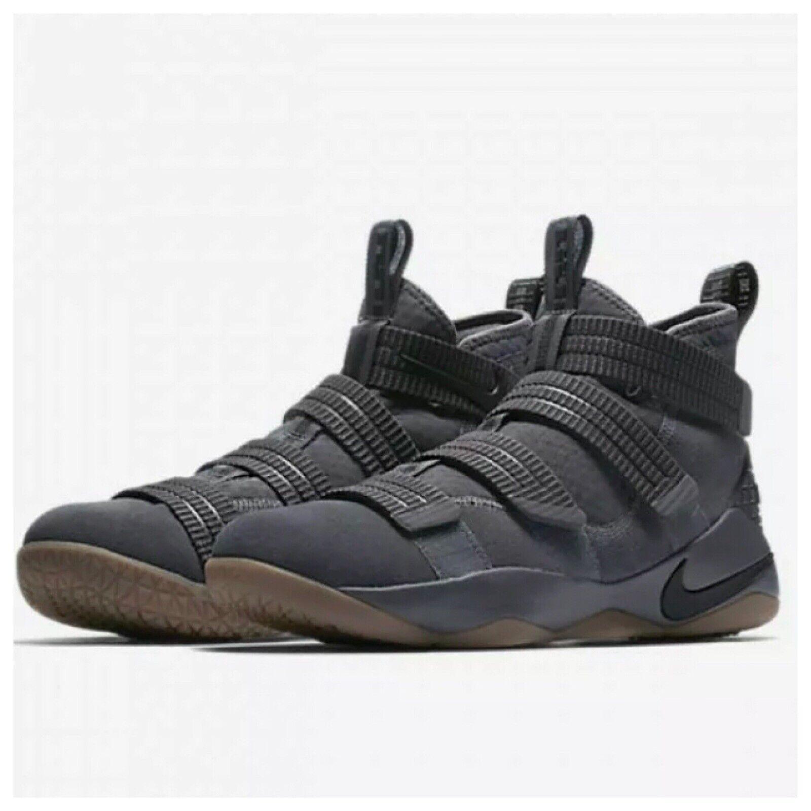 sale usa online buy popular fantastic savings Nike Lebron Soldier 11 Dark Grey Aqua 918369 003 Youth 7 for sale ...
