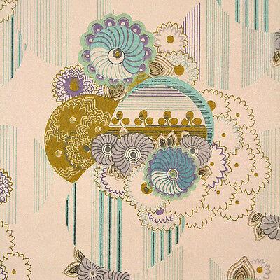 Boho Fabulous Original Vintage Floral Wallpaper 1970s Ebay