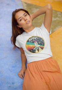 NASA-Vintage-Logo-Womens-T-Shirt-Space-Astronaut-Retro-Style-Classic-Tee-White
