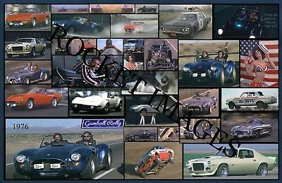 Gumball Rally 1976 Custom Movie Poster 11x17 Buy Any 2 Posters Get 3rd Free Ebay