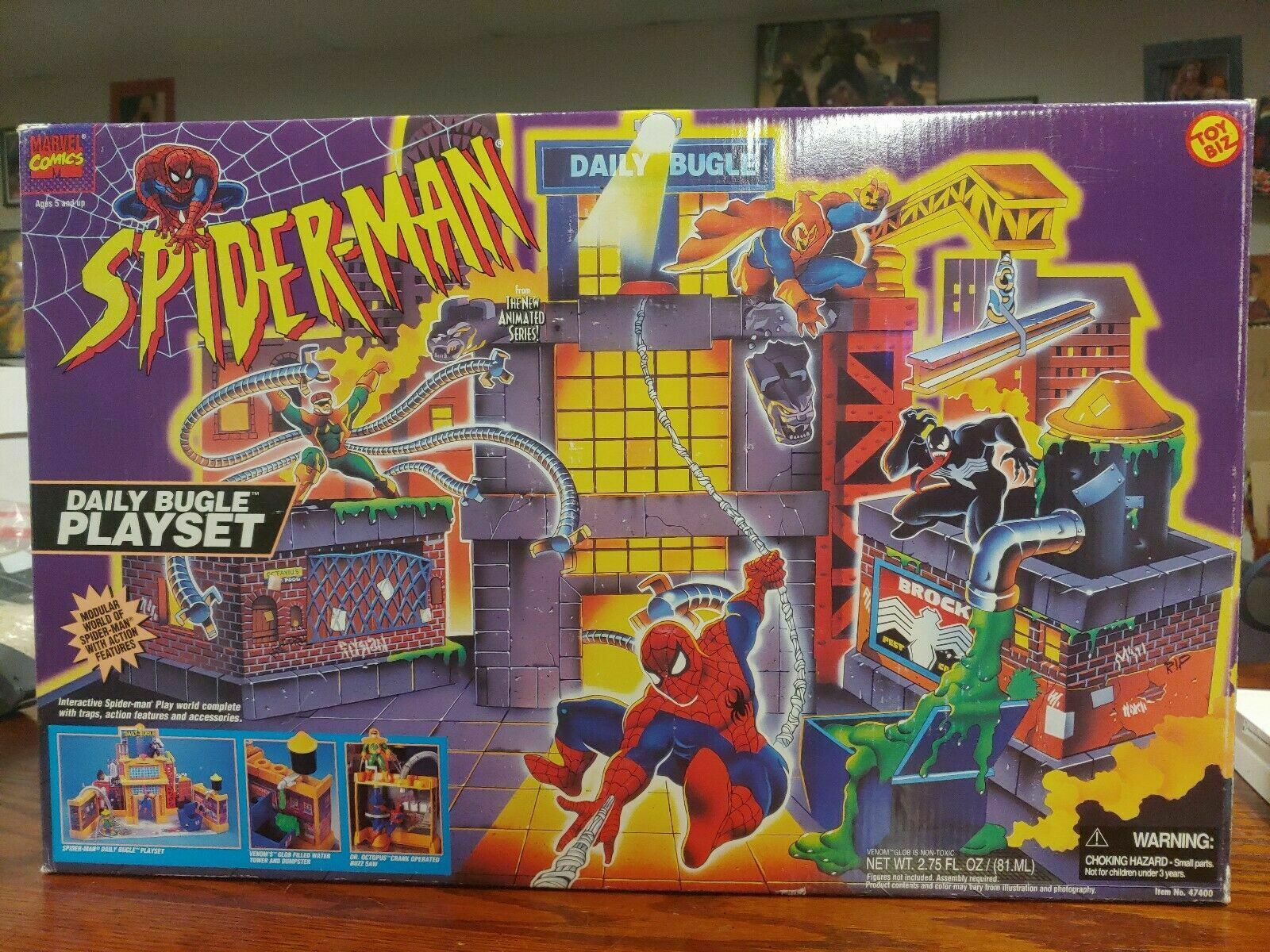 Spiderman Daily Bugle Playset  New Meerled Rare  BY Spielzeug BIZ
