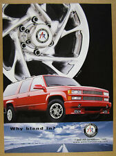 1999 stillen suburban photo American Racing Custom Wheels vintage print Ad