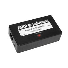 Midi Solutions Dual Footswitch Controller control MIDI with dual footswitches