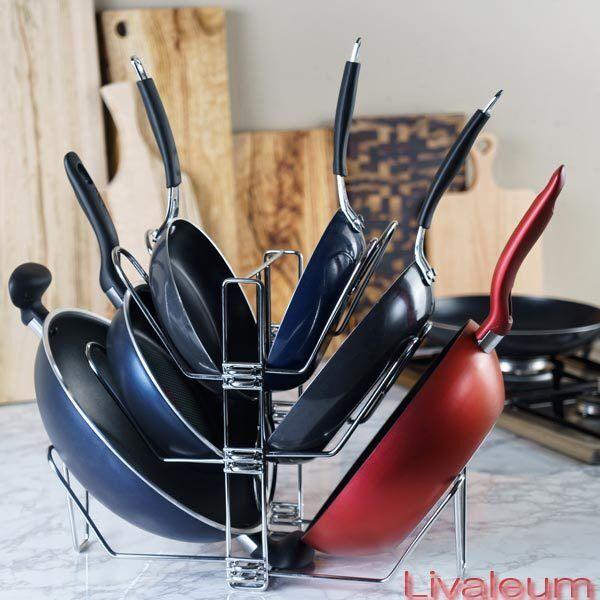 Premium Poêle livaleum Cook Pan inoxydable solide B Double