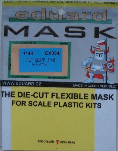 Eduard 1//48 EX054 canopy masque pour le tamiya focke wulf Fw190A//F kits
