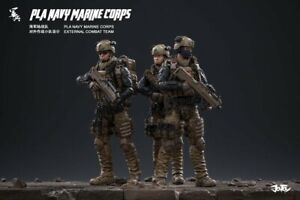 Joytoy 1//18 PLA NAVY MARINE CORPS External Combat Team Action Figure Set of 3