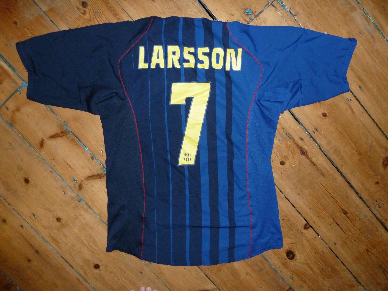 Barcellona Maglietta + L+ Larsson  17 Maglia 2004 + Camiseta Maillot Maglla