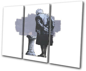 Street Graffiti Museum Banksy Hi Res Treble Canvas Wall Art Picture Print Ebay