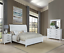 thumbnail 1 - NEW Weathered White Rustic Farmhouse 4PC Queen King Modern Bedroom Set Bed/D/M/N