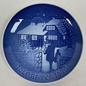 "B&G BING & GRONDAHL 1973 Christmas Plate ""Country Christmas"" Signed Limited Ed"