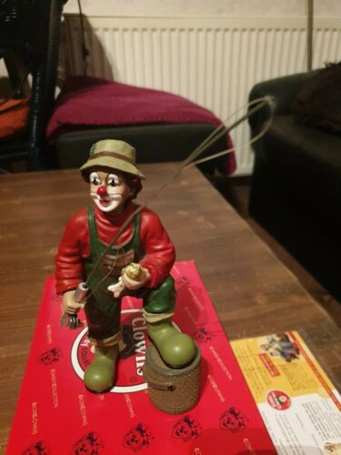 Gilde Clown Angler 35075 in OVP Rarität Gilde Sammlung