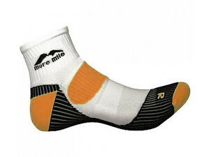 More Mile calcetín para correr Londres Blanco Naranja, Calcetines de ...