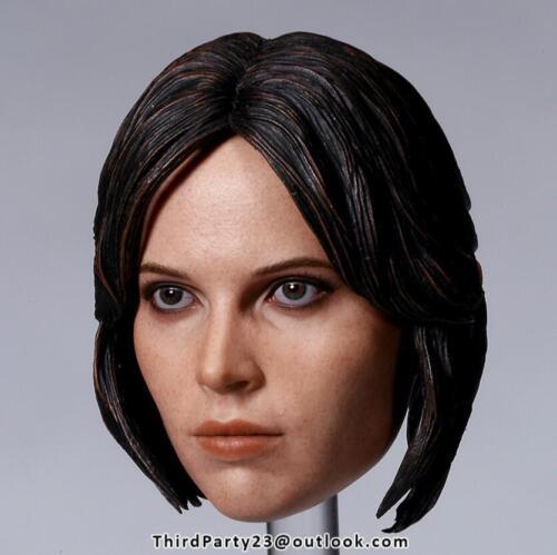 1//6 Felicity Jones Head Sculpt Star Wars Hot Toys Jyn Erso phicen ❶US IN STOCK❶