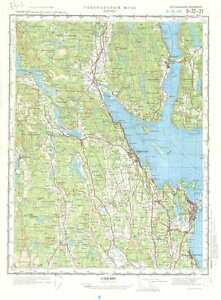 Russian Soviet Military Topographic Maps HORTEN Norway 1100