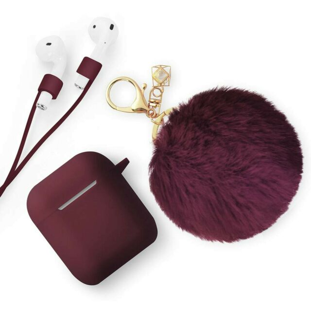 Apple Airpods Case Cute Drop Proof Silicone Skin And Cover With Fluffy Fur For Sale Online Ebay