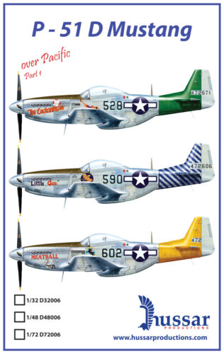 P51D Mustang 132 scale 32006 Hussar Productions decals