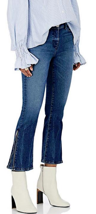 3x1 New York City Midway gousset Zipper Crop Jeans Presley Neuf avec étiquettes 285
