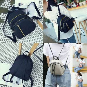 Fashion-Women-Girl-Small-Backpack-Travel-Black-Nylon-Handbag-Shoulder-Bag-Gift