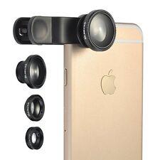 3-in-1 Easy-Use Camera Lens Kits (Black)
