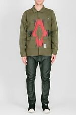 Adidas X Neighborhood Collab Army Green Navajo Print Button Work Shirt Jacket XL