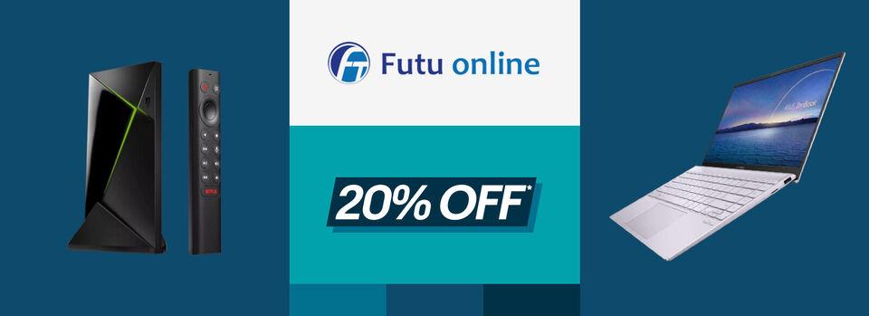 Use code PRESS20 - 20% off* Black Friday savings at Futu Online
