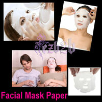 100 Pcs unCompressed Cotton Facial Face Mask Sheet Paper Diy Natural Skin Care