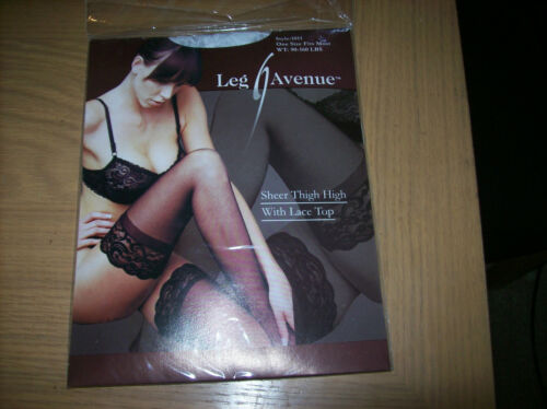 Leg Avenue Thigh High With Lace Top Style 1011