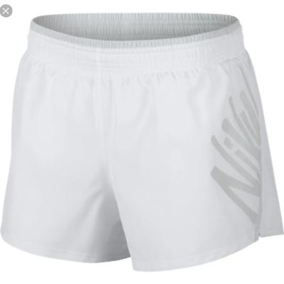 incomparable garantía de alta calidad venta profesional Pantalones Cortos Nike Mujer Shorts Deportes Blanco AJ9141-100 Running  Tenis | eBay