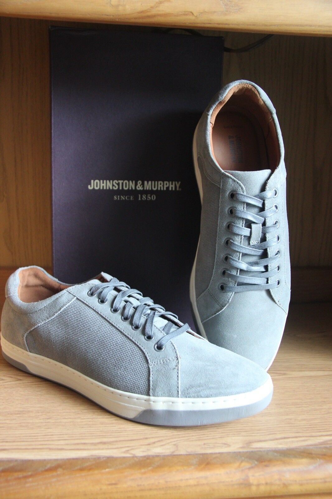 Johnston & Murphy Fenton Lace to Toe Shoe Grey Men Size 12  252639