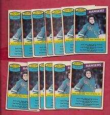 13 X 1980-81 OPC RANGERS PHIL ESPOSITO  TEAM  CHECKLIST CARD