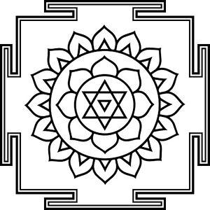 Lotus-Yantra-Pegatina-Pared-Adhesivo-de-Pared-Wall-Calcomania