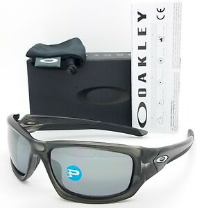 Image is loading NEW-Oakley-Valve-sunglasses-Grey-Black-Iridium-Polarized- ef4b35328c28
