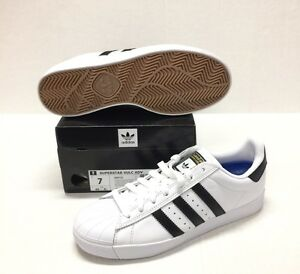 hot sale online 9f89f 6beb0 Details about ADIDAS SUPERSTAR VULC ADV #D68718 WHITE / BLACK / WHITE