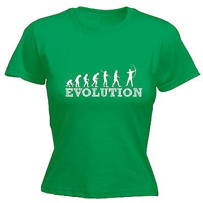 Evoluzione Archer Da Donna T-shirt Tee Compleanno Di Tiro Con L'arco Arco Freccia Bersaglio Divertente Regalo-mostra Il Titolo Originale Rinvigorire Efficacemente La Salute