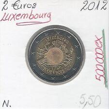 2 Euros - LUXEMBOURG - 2012 // Qualité: Neuve (10 ans de circulation de l'Euro)