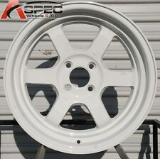 ROTA GRID V 16X8 +20 4X100 WHITE WHEELS FIT JDM INTEGRA CIVIC YARIS MIATA RIO
