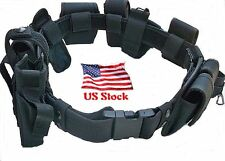 Duty Belt Police Officer 10 Piece Security Guard Law Enforcement Equipment Gear