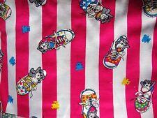 STRISCIA Rosa Tessuto Stretch Stampa Scarpa Con Dettaglio Texture PUFF-DA USA - 2m