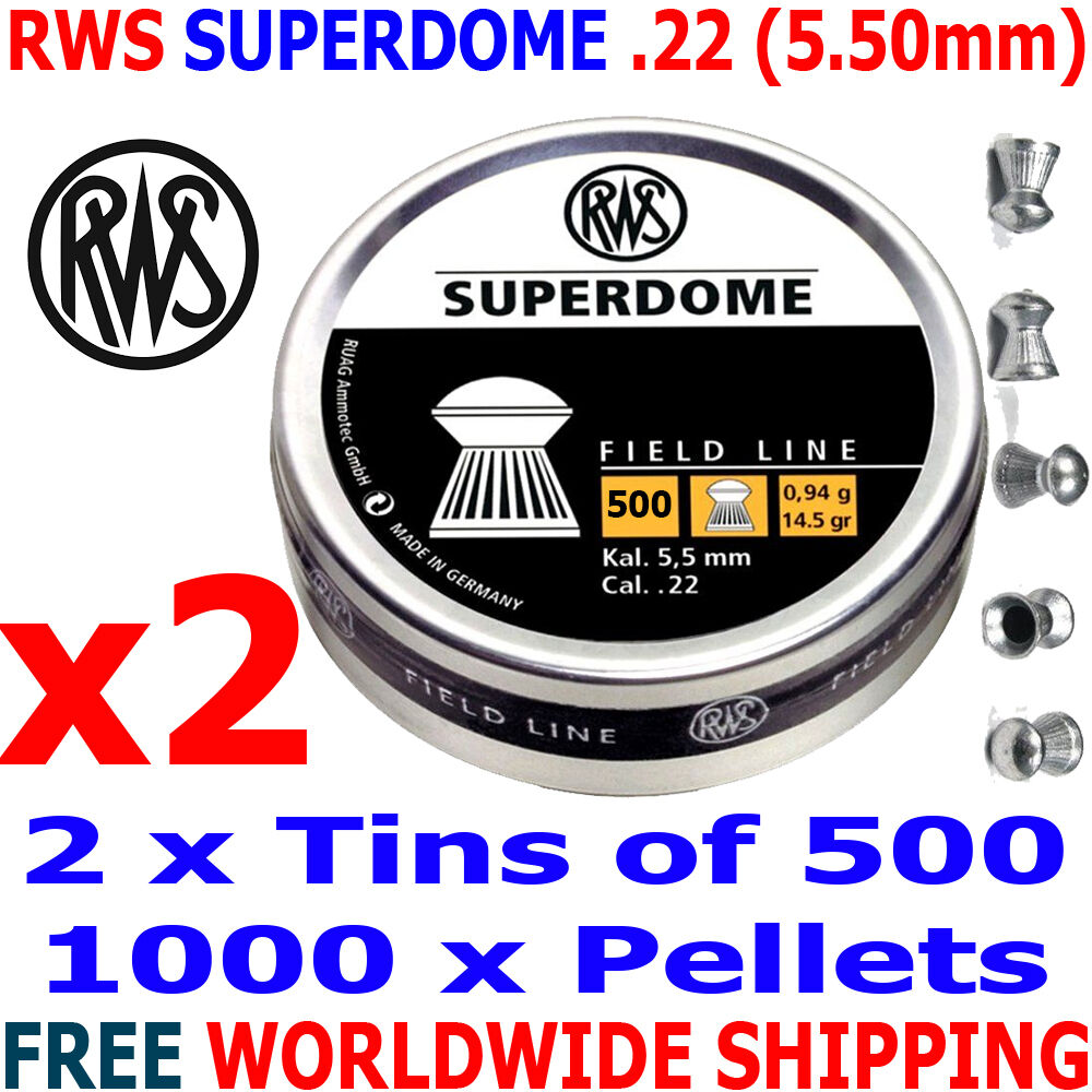 RWS SUPERDOME .22 5.50mm Airgun Pellets 2(tin)x500pcs (FIELD TARGET PELLETS)