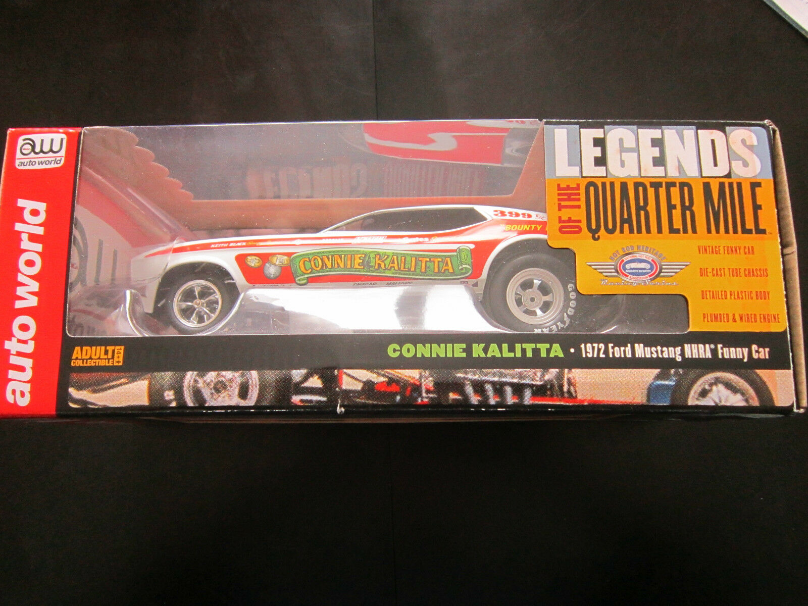 AUTO WORLD LEGENDS OF THE QUARTER MILE CONNIE KALITTA1972 FORD MUSTANG FUNNY CAR